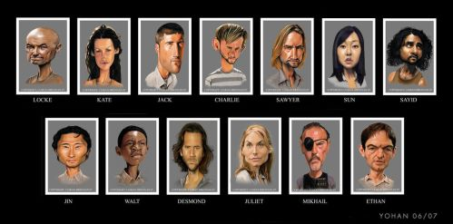 Lost caricatures WIP by Yohan-2014