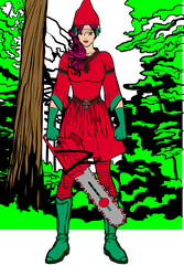 Elf Girl With Chainsaw 8 by Usaporkchops