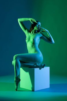 Nude in green by JudithGeiser