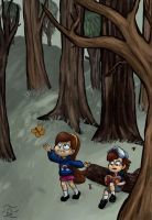 Gravity Falls by QuintessantRiver