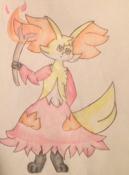 Delphox -request-  by Starry-the-Jolteon