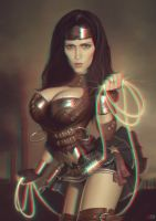 Steampunk Wonder Woman 3-D conversion by MVRamsey