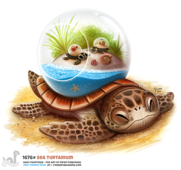 Daily Painting 1676# Sea Turtarium by Cryptid-Creations