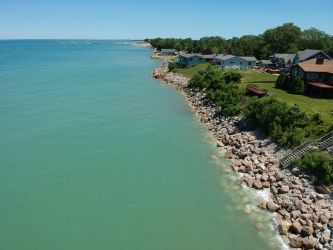 Drone- Lake Michigan by Fiction-Art-Author
