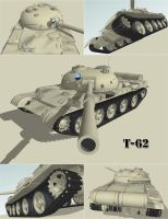T62 tank sketchup renders by shareck