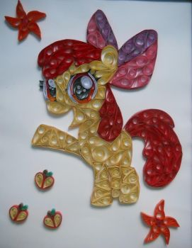 Quilling - Apple Bloom by RzymonZPapieru