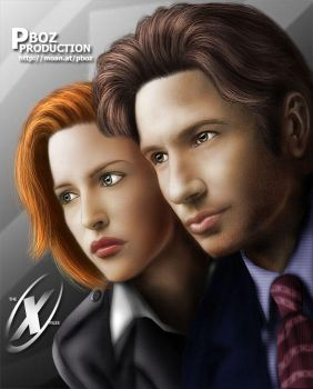 THE X-FILES: Mulder and Scully by pbozproduction