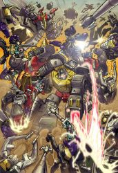 Dinobots vs Insecticons by MarceloMatere
