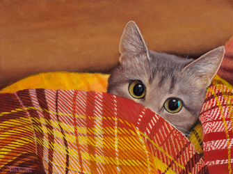 Cat Oilpainting by zwillhyper