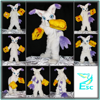 Gatomon Cat Digimon Fursuit OOAK by EternalSkyy by Eternalskyy