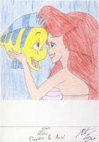 Disney - Flounder and Ariel by MortenEng21