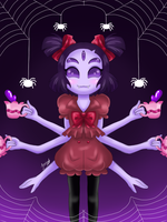 Tea Party [Muffet] by Jany-chan17