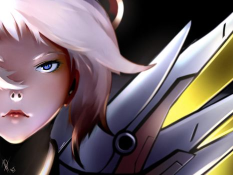 Mercy - Overwatch fanart by MagnaDk