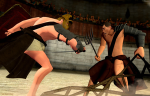 Gladiatorial Battle by tigerfaceswe