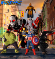 The Avengers. by WOLFBLADE111