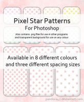 Pixel Star Patterns for PS by Pandora42