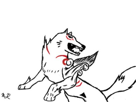amaterasu tablet art by Silver-L1ght
