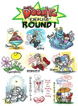 Doodle Exercise: Round 1 by DoodleWEE