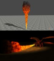 Rigged Flame for XNALara/XPS by dasliebesverbot