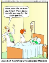 Socialized Medicine cartoon by Conservatoons