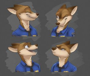 Commission: Izzy's Expression Sheet by Temiree