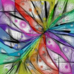 KALEIDOSCOPE DRAGONFLY ABSTRACT ART by popartdiva