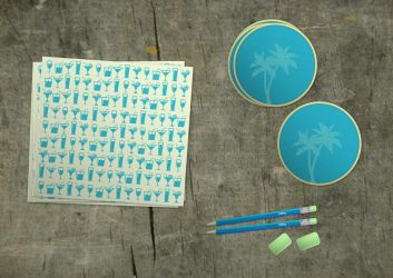 Tropica - drink coasters etc by vlahall