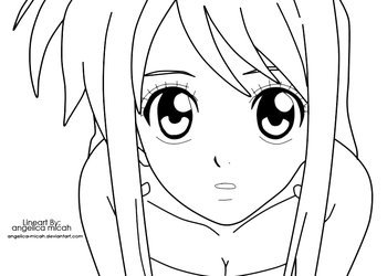 Lucy Heartfilia Lineart by angelica-micah