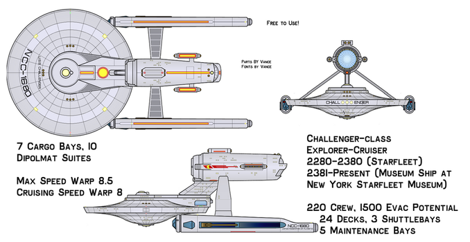 Exploration Cruiser U.S.S. Challenger NCC-1680 by hgfggg