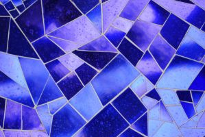 Mosaic Texture in Blue Glass by chamberstock