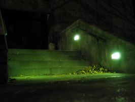 Lighted Stairs by Mylniar