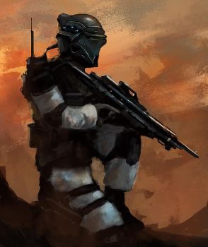 Wasteland Trooper by dustycrosley