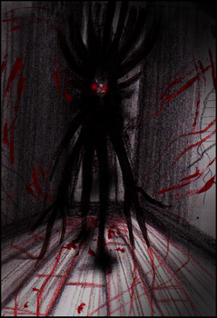 The Thing in the Dark Hallway by Cageyshick05