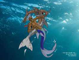 Tan fight Silver Tail by FaGian