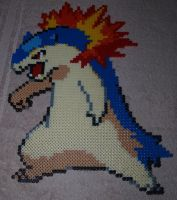 Typhlosion - Perler or Hama by Chrisbeeblack