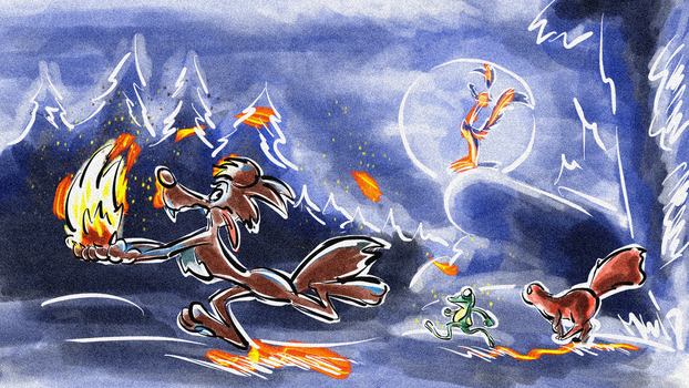 How Coyote Stole Fire - A thief, a thief! by Weischede
