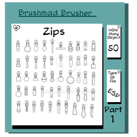 Zips Part 1 Illustration fashion object stock by brushmad