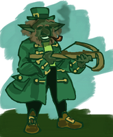 Leprechaun with a Crossbow by PeKj