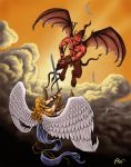 Angels and Demons - Borders by Panaiotis