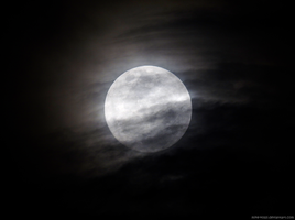 Cloudy Moon by Mike-Kossi