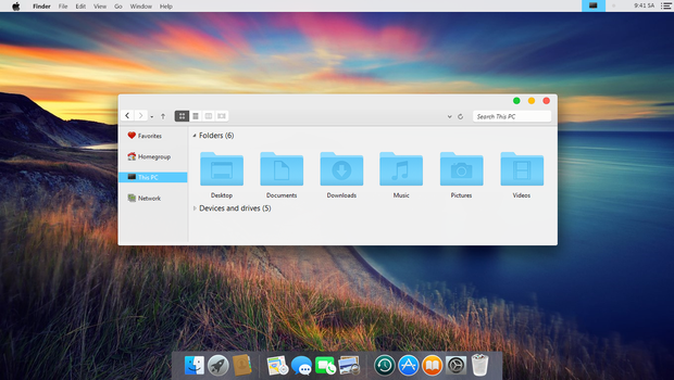 Yosemite Screenshot by Cleodesktop