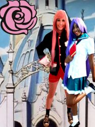 Anthy and Utena Cosplay by CryingGypsy