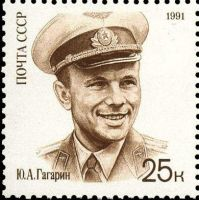 Gagarin stamp 4 by Mihenator