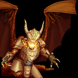 Wesnoth: Inferno Drake by thespaceinvader