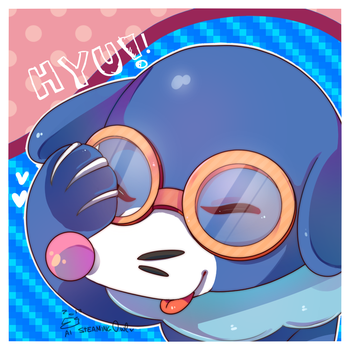 Popplio by SteamingOwl