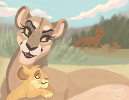 The Vixen and the Lioness by JaneGumball