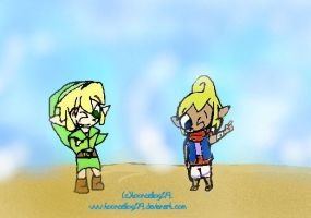 Link and Tetra O__o by tooncellos219