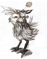 Croquis Chocobo and mog by acetea-san