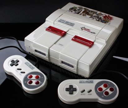 custom pearl white Chrono Trigger SNES by Zoki64