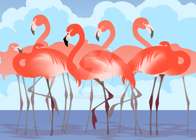 Pink Swans by sealle